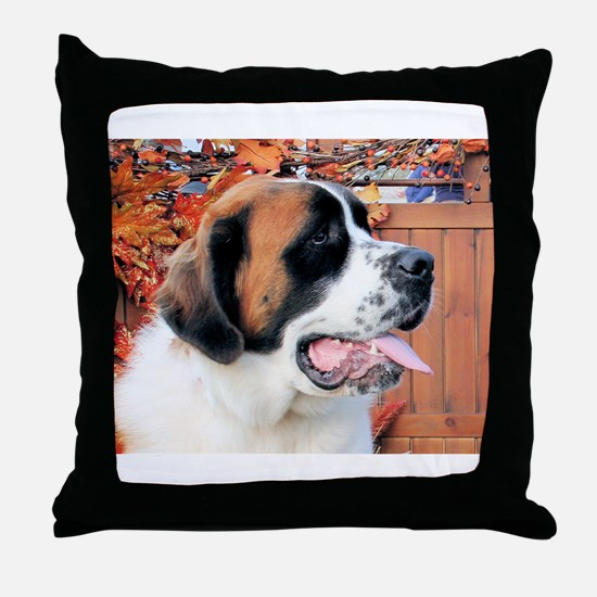 Mae Saint Bernard Photo-6 Throw Pillow