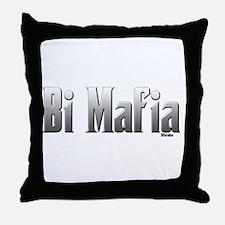 Bi Mafia Throw Pillow