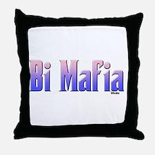 Bi Mafia Bi Colors Throw Pillow