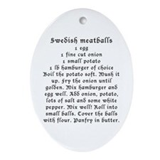 Swedish Meatball recipe on Oval Ornament
