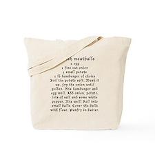 Swedish Meatball and Pancake recipe on Tote Bag