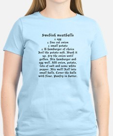 Swedish Meatball recipe on T-Shirt