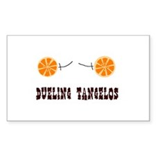 Dueling Tangelos Rectangle Decal