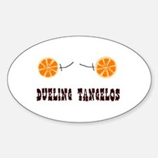Dueling Tangelos Oval Decal