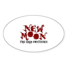 New Moon Movie Oval Decal