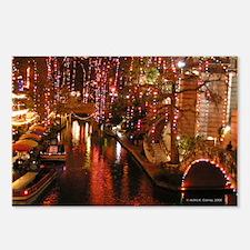 San Antonio Riverwalk w/ Christmas Lights Postcard