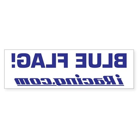 BLUE FLAG! Sticker (Front Bumper)