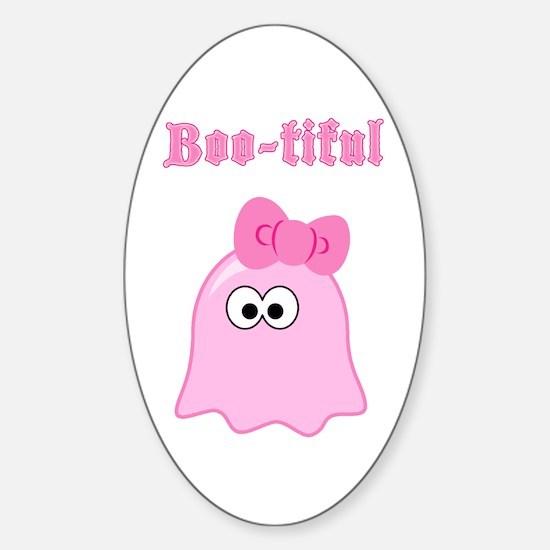 Boo-tiful Oval Decal