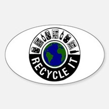 Recycle It Oval Decal