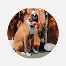 Marley Boxer Photo-1 Ornament (Round)