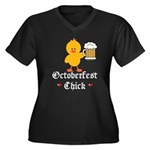 Oktoberfest Chick Women's Plus Size V-Neck Dark T-