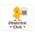 Oktoberfest Chick Small Poster