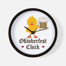 Oktoberfest Chick Wall Clock