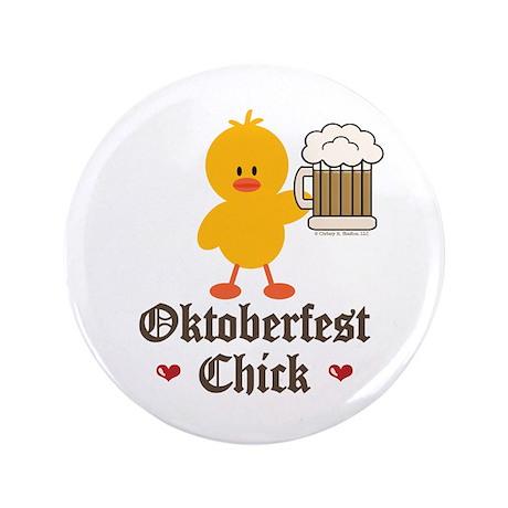 """Oktoberfest Chick 3.5"""" Button (100 pack)"""