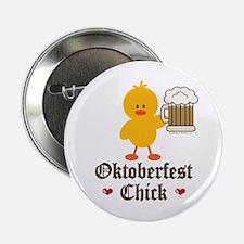 """Oktoberfest Chick 2.25"""" Button (100 pack)"""