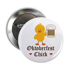 """Oktoberfest Chick 2.25"""" Button"""