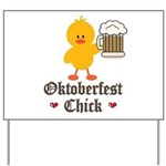 Oktoberfest Chick Yard Sign