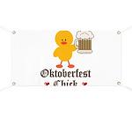 Oktoberfest Chick Banner