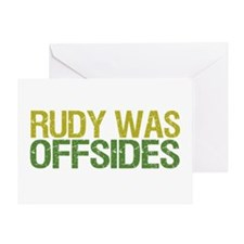Rudy Was Offsides Greeting Card