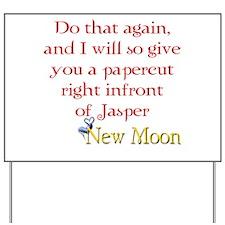 Papercut Funny Jasper Twiligh Yard Sign
