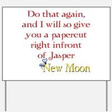 Papercut Funny Jasper Twiligh Yard Sign