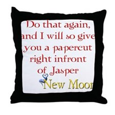 Papercut Funny Jasper Twiligh Throw Pillow