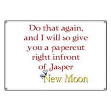 Papercut Funny Jasper Twiligh Banner
