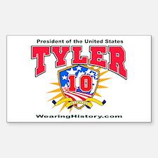 John Tyler Rectangle Decal