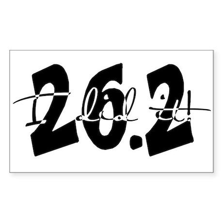 26.2 - I Did It! Rectangle Sticker 10 pk)