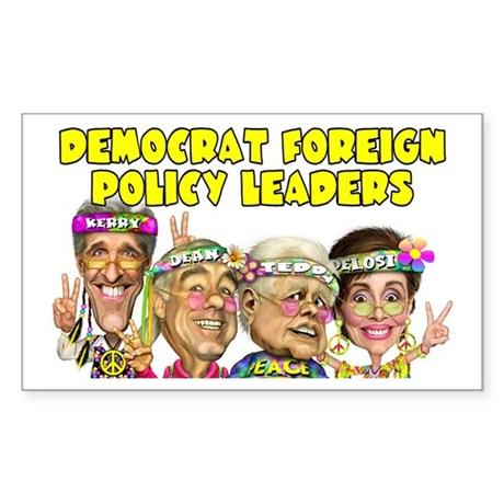 Democrat Foreign Policy Rectangle Sticker