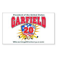 James Garfield Rectangle Decal