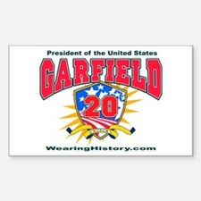 James Garfield Rectangle Decal