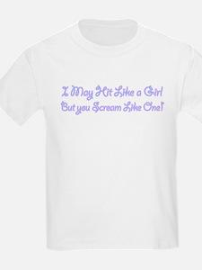 I Hit Like a Girl T-Shirt