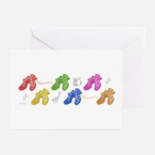 Colors and flamenco shoes Greeting Cards (Pk of 10