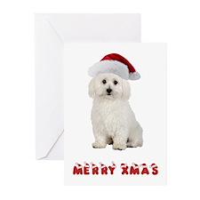 Bichon Frise Christmas Greeting Cards (Pk of 10)