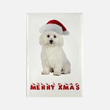 Bichon Frise Christmas Rectangle Magnet