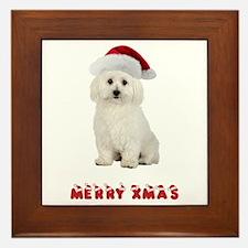 Bichon Frise Christmas Framed Tile