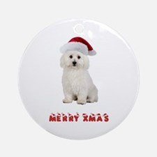 Bichon Frise Christmas Ornament (Round)