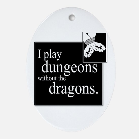 Dungeons Without Dragons Oval Ornament
