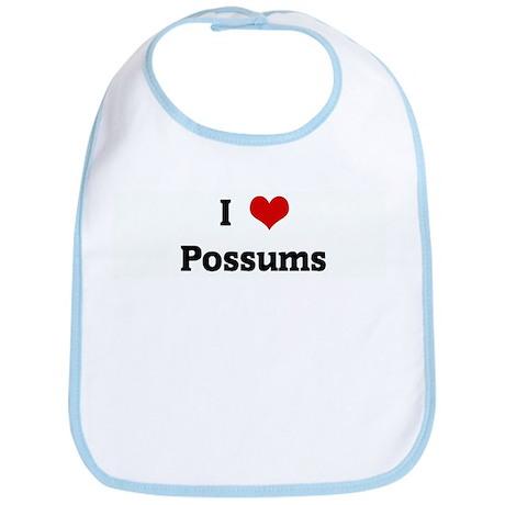 I Love Possums Bib