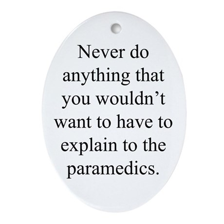 Paramedics Ornament (Oval)
