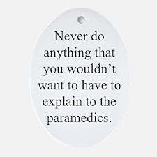 Paramedics Oval Ornament