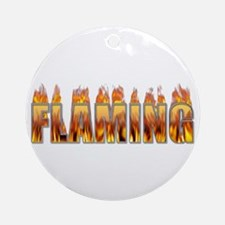 Flaming Ornament (Round)