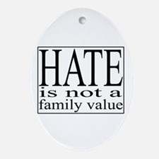 Hate Ornament (Oval)