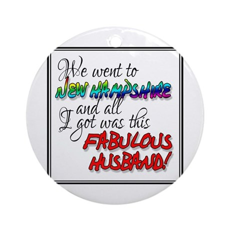 Fabulous Husband New Hampshire Ornament (Round)