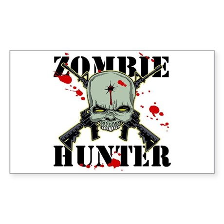 Zombie Hunter Rectangle Sticker