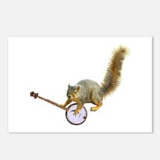 Squirrel with Banjo Postcards (Package of 8)
