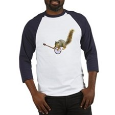 Squirrel with Banjo Baseball Jersey