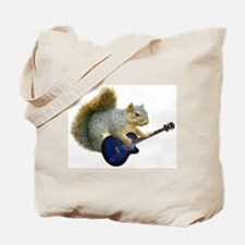 Squirrel with Blue Guitar Tote Bag