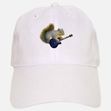 Squirrel with Blue Guitar Baseball Baseball Cap